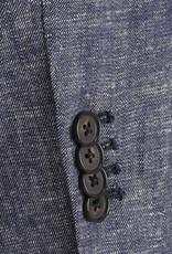 Seventy Linnen Blazer Jeansblauw