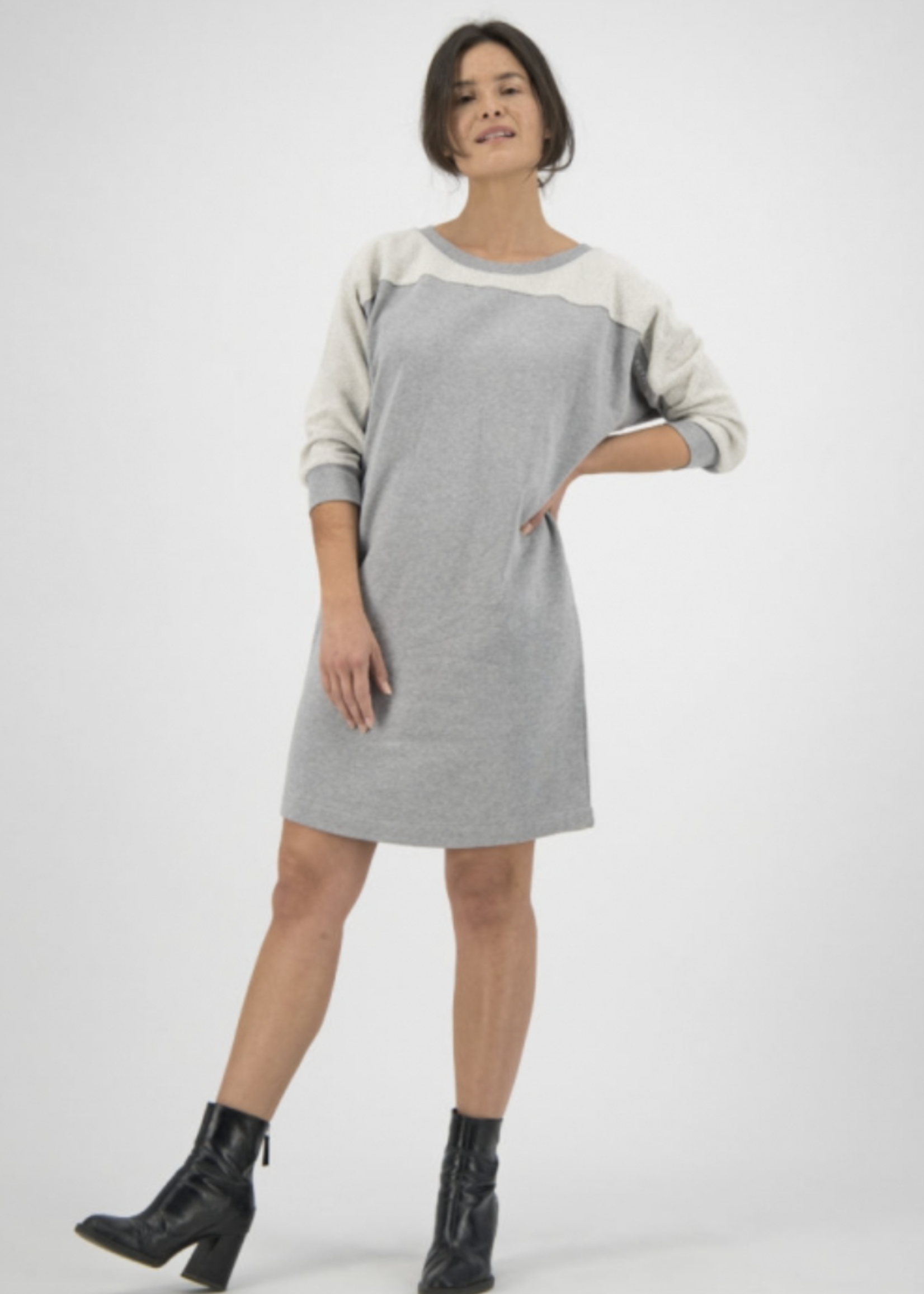 Kuyichi Agnes Sweat Dress Twisted Grey