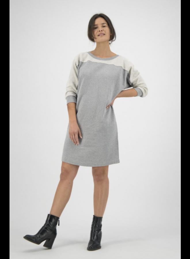 Agnes Sweat Dress Twisted Grey