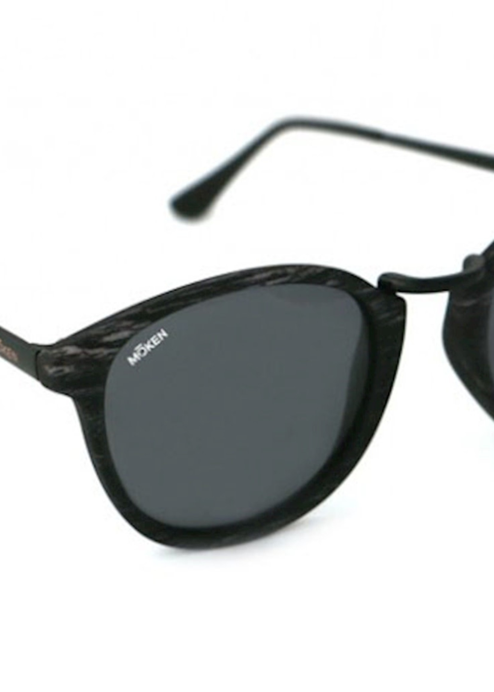 Mōken Twindrop Grey Zebra Sunglasses