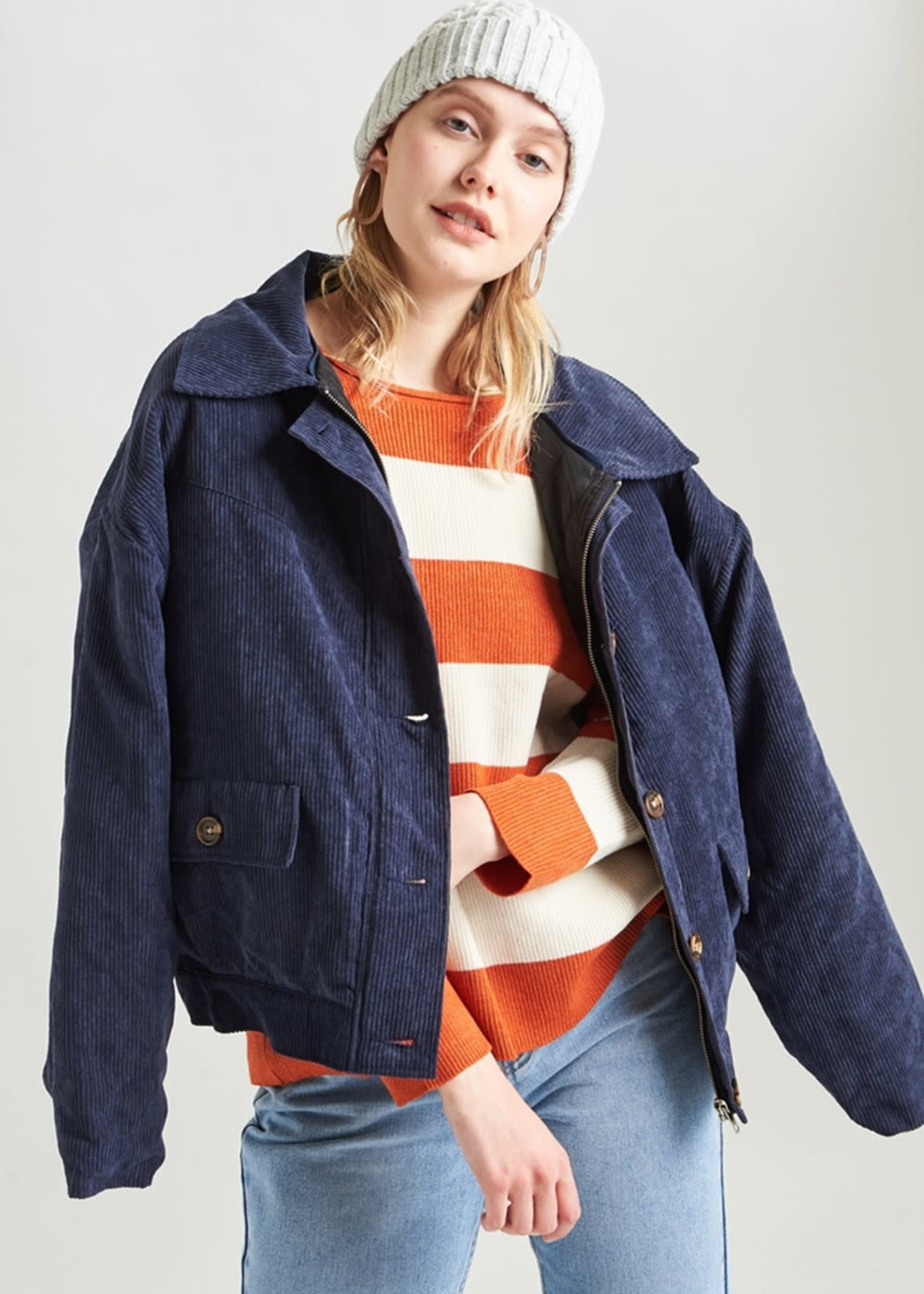 24Colours Aaliyah Basic Knit Striped