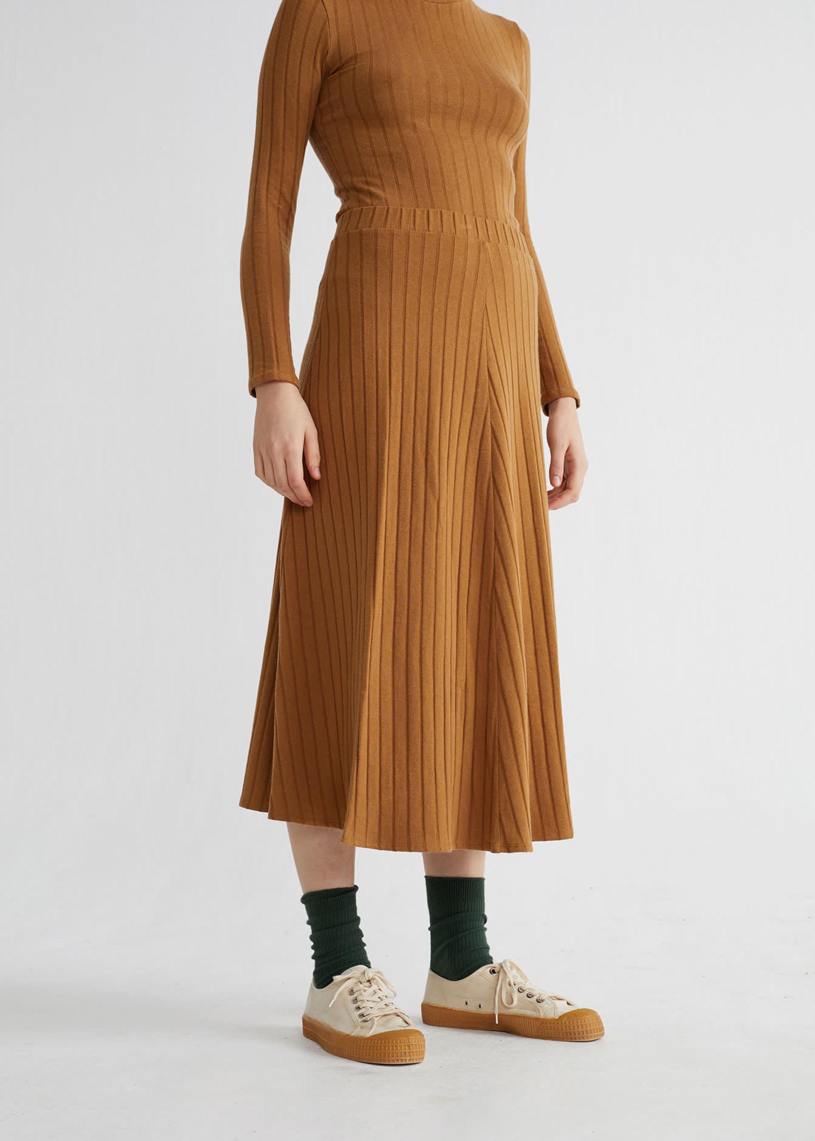 Thinking Mu Caramel Trash Satis Skirt