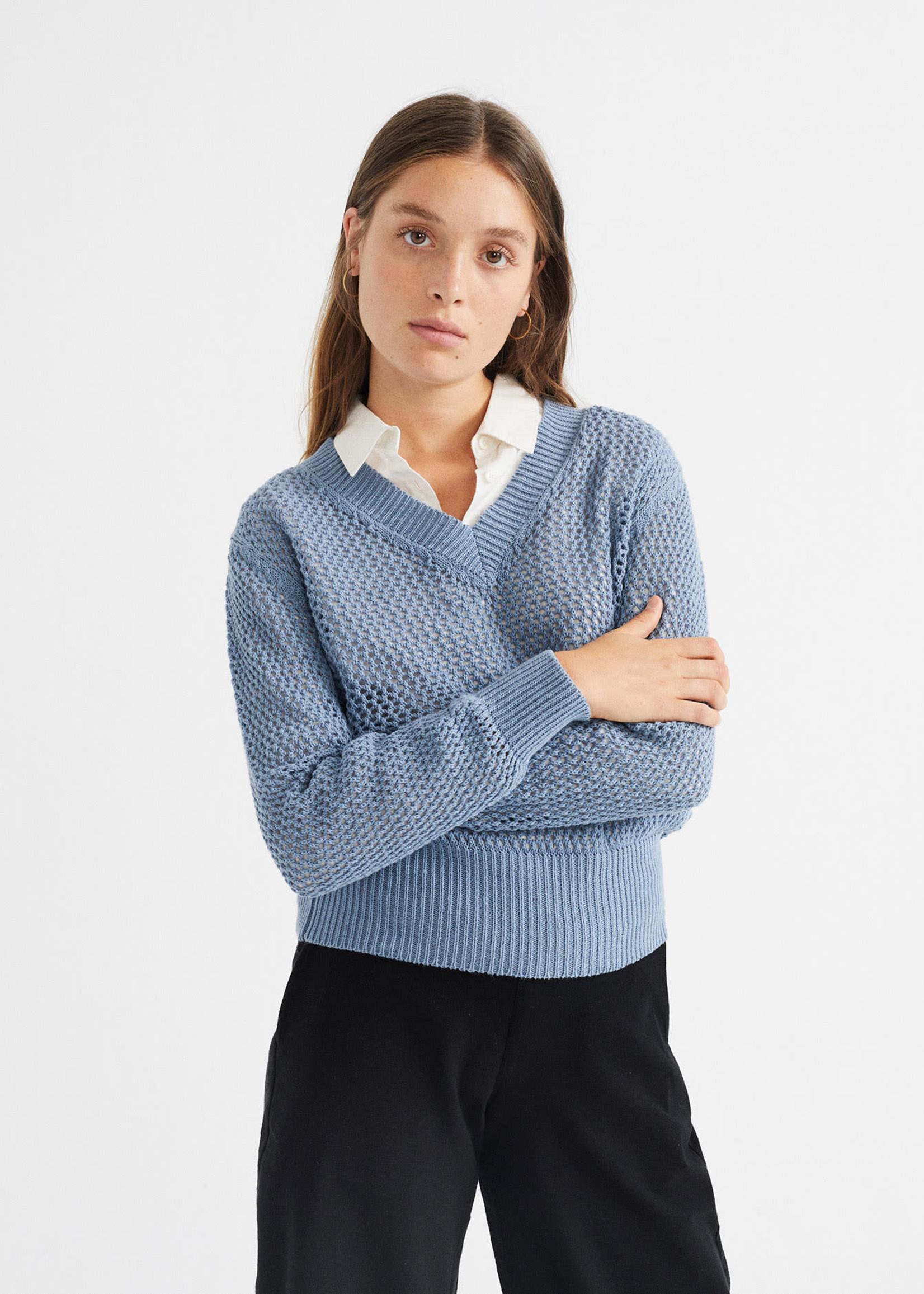 Thinking Mu Willow Mesh Sweater