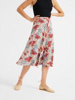 Thinking Mu Small Flowers Lavanda Skirt