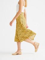 Thinking Mu Multi Flowers Lavanda Skirt