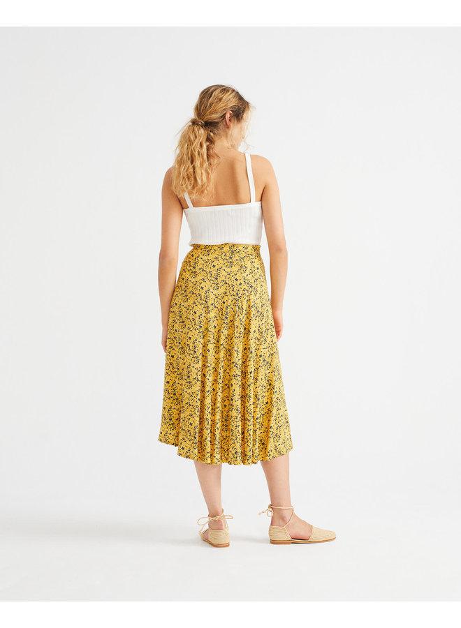 Multi Flowers Lavanda Skirt
