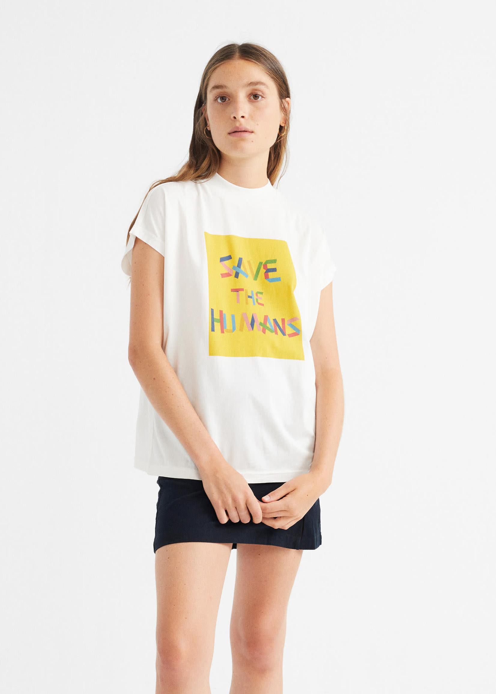 Thinking Mu Save The Humans T-shirt