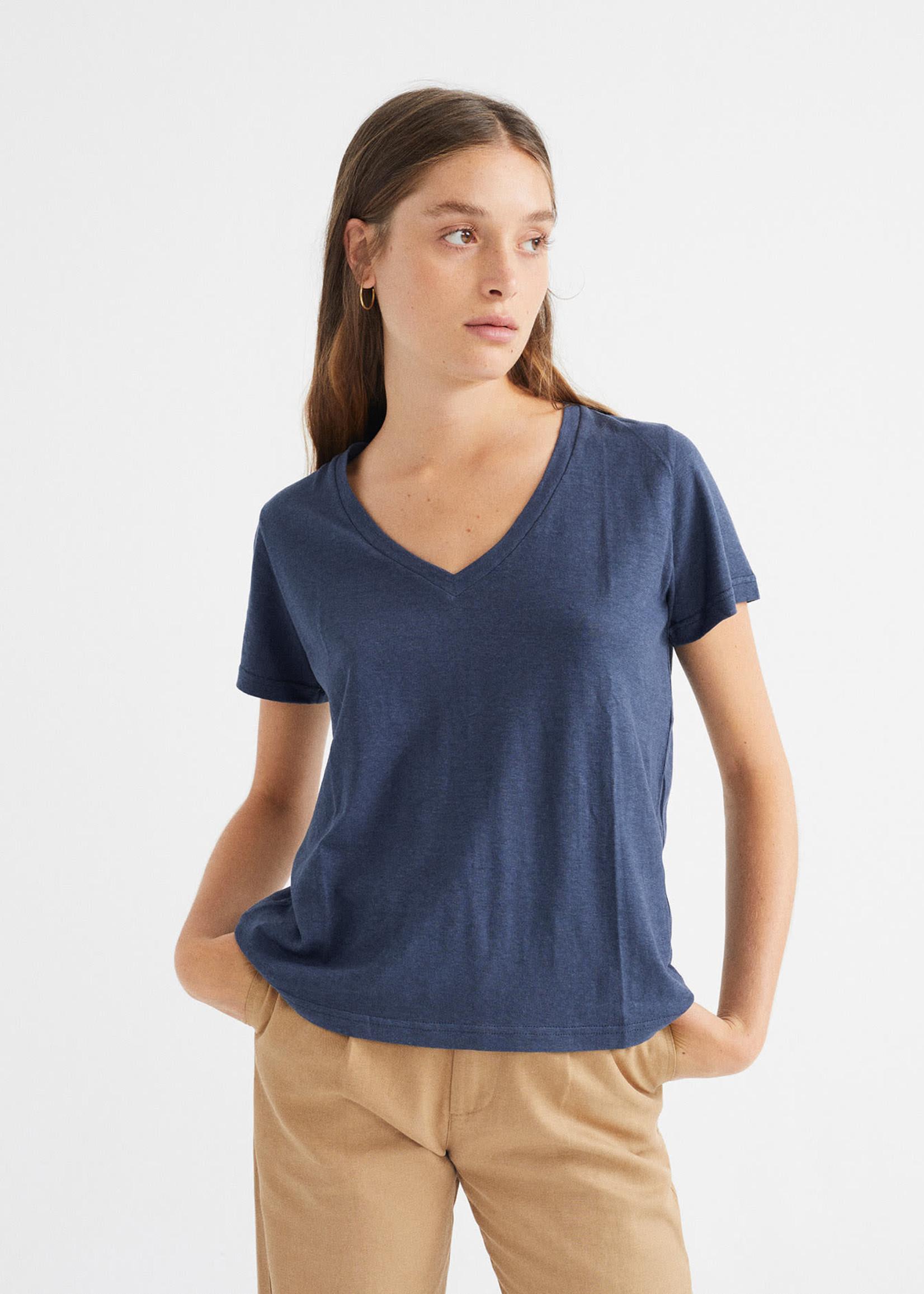 Thinking Mu Navy Hemp Clavel T-shirt