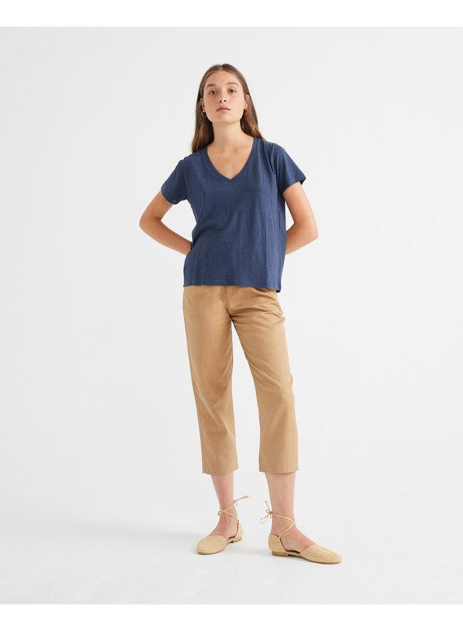 Navy Hemp Clavel T-shirt