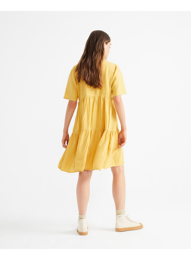 Mustard Hemp Fresia Dress