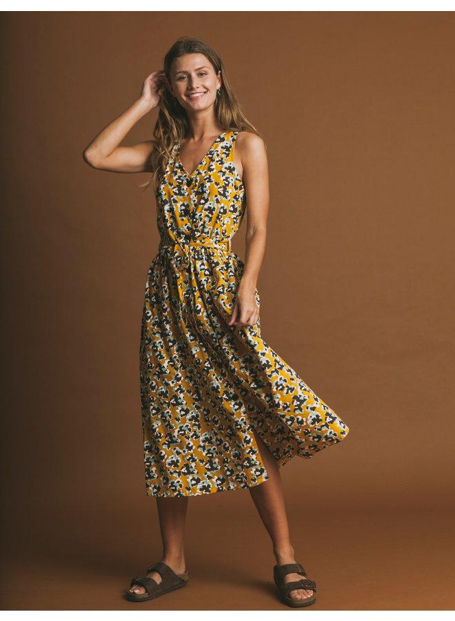 Abstract Flowers Jolie Dress