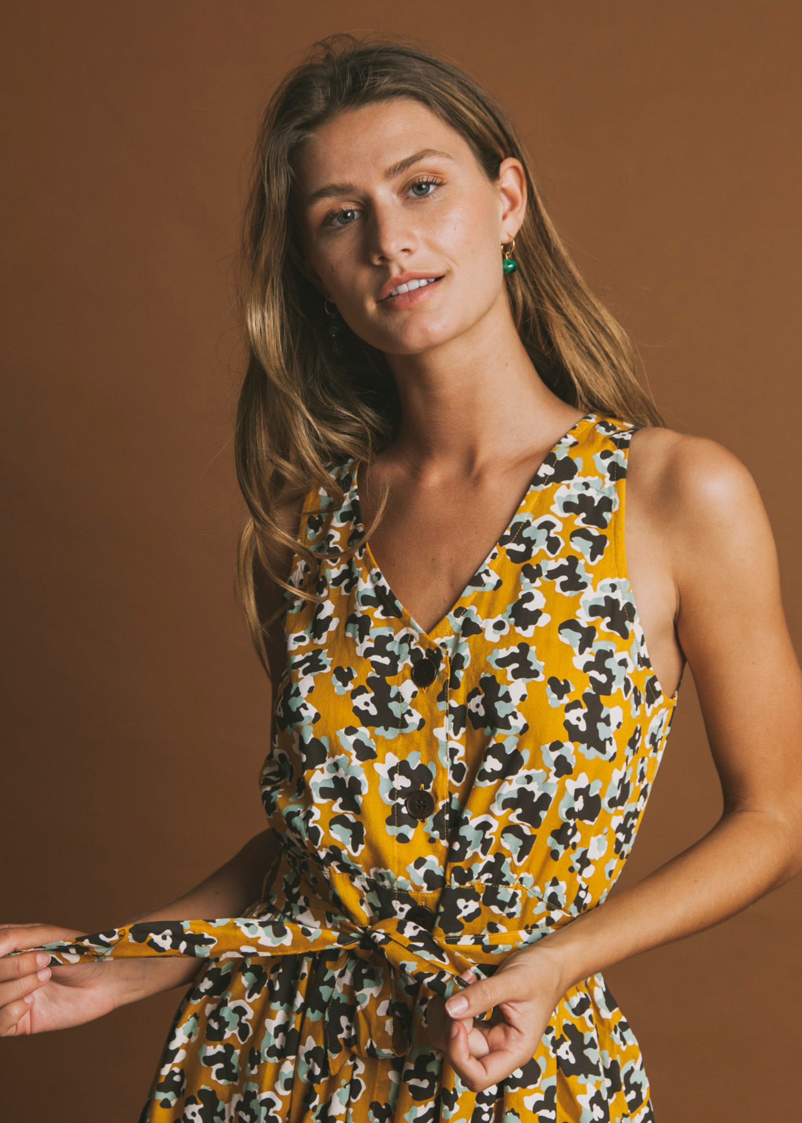 Thinking Mu Abstract Flowers Jolie Dress