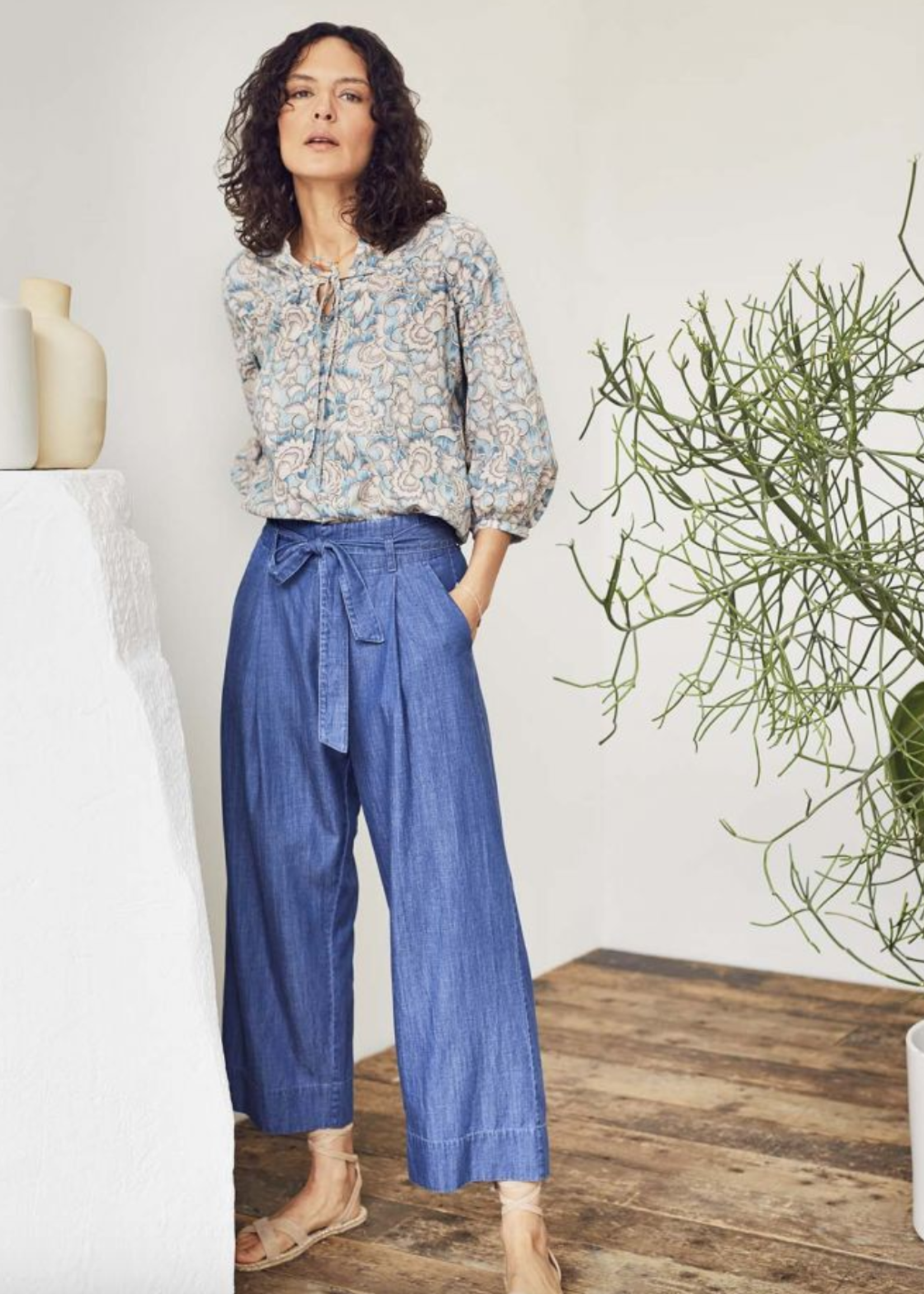 Thought Esther Chambray Tencel™ Organic Cotton Woven Culotte