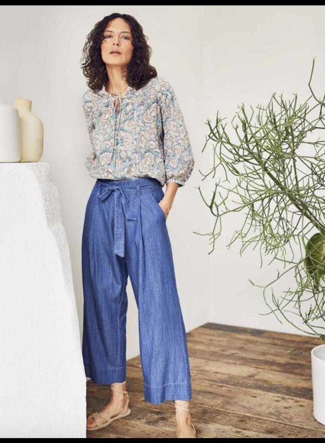 Esther Chambray Tencel™ Organic Cotton Woven Culotte