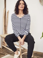 Thought Kaylee Striped Hemp Organic Cotton Jersey Top