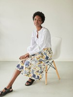 Thought El Audaz Floral Printed Tencel™ Organic Cotton Full Skirt