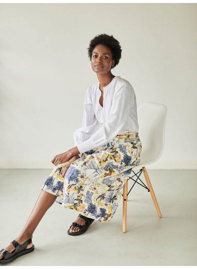 El Audaz Floral Printed Tencel™ Organic Cotton Full Skirt