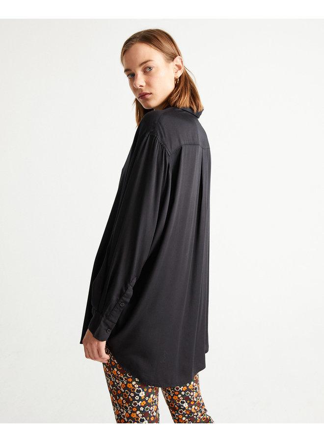 Black Gia Oversized Blouse