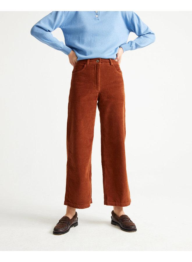 Clay Red Corduroy Elephant Pants
