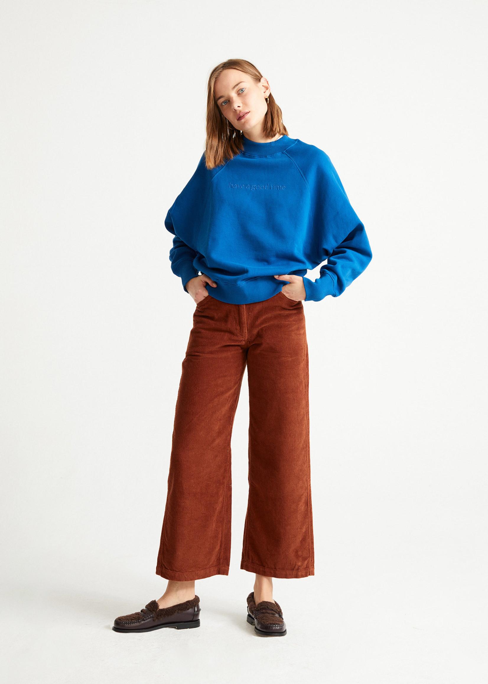 Thinking Mu Good Time Blue Sweatshirt
