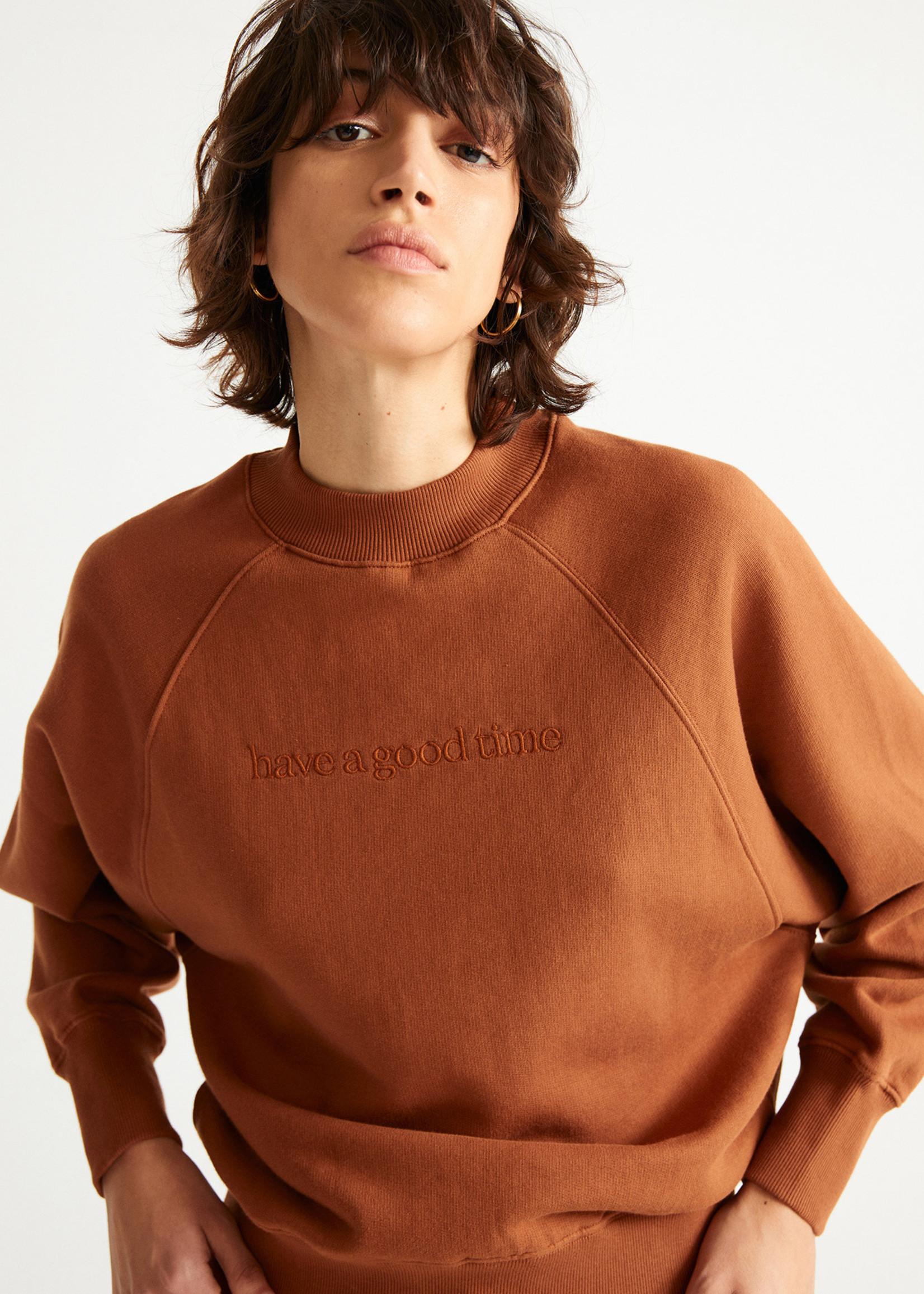 Thinking Mu Good Time Red Sweatshirt