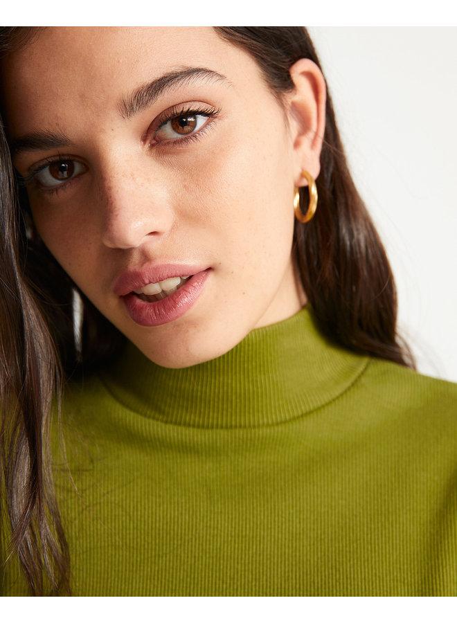 Green Rib Aine L/S Top