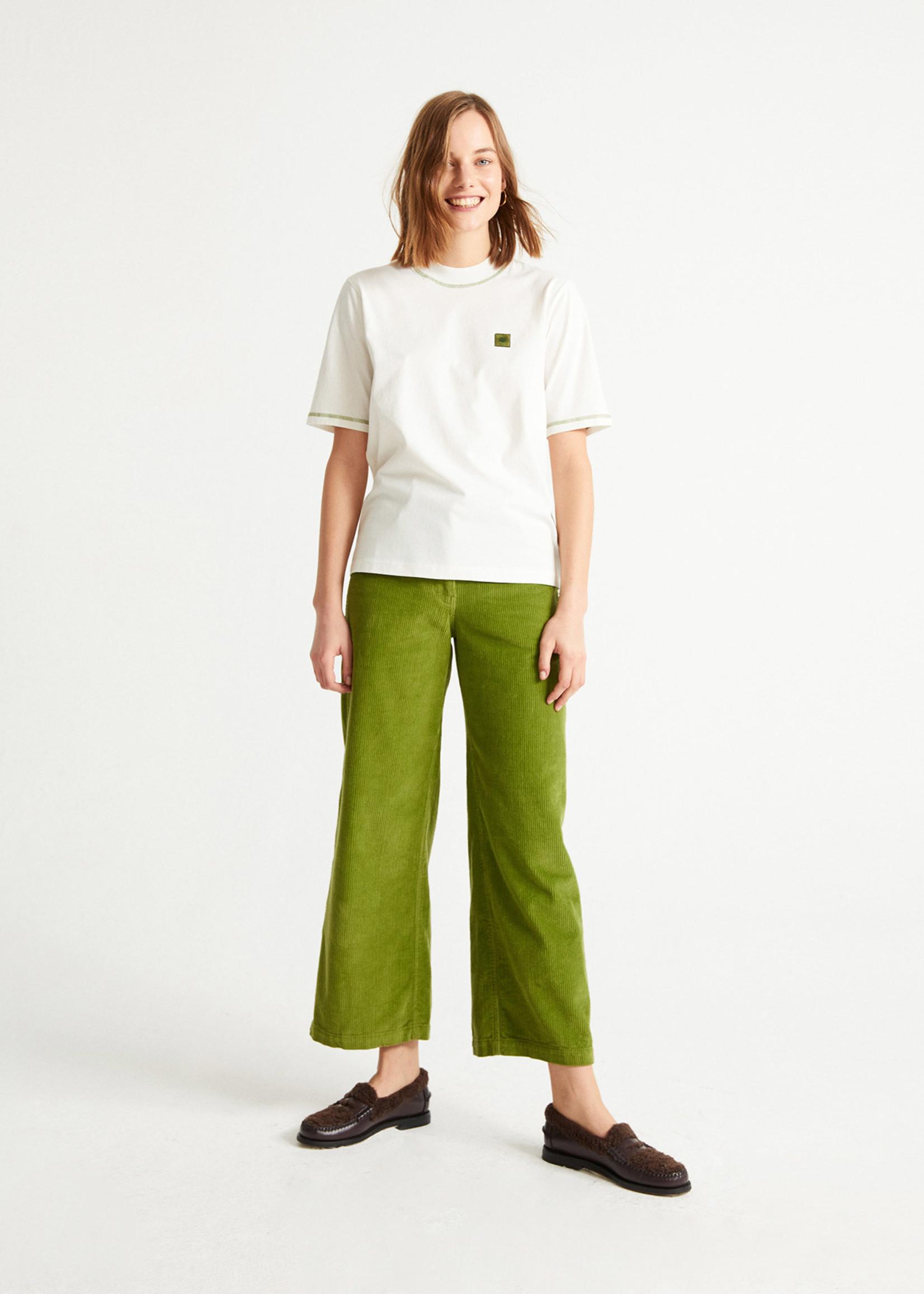 Thinking Mu Sol Green Contrast T-shirt