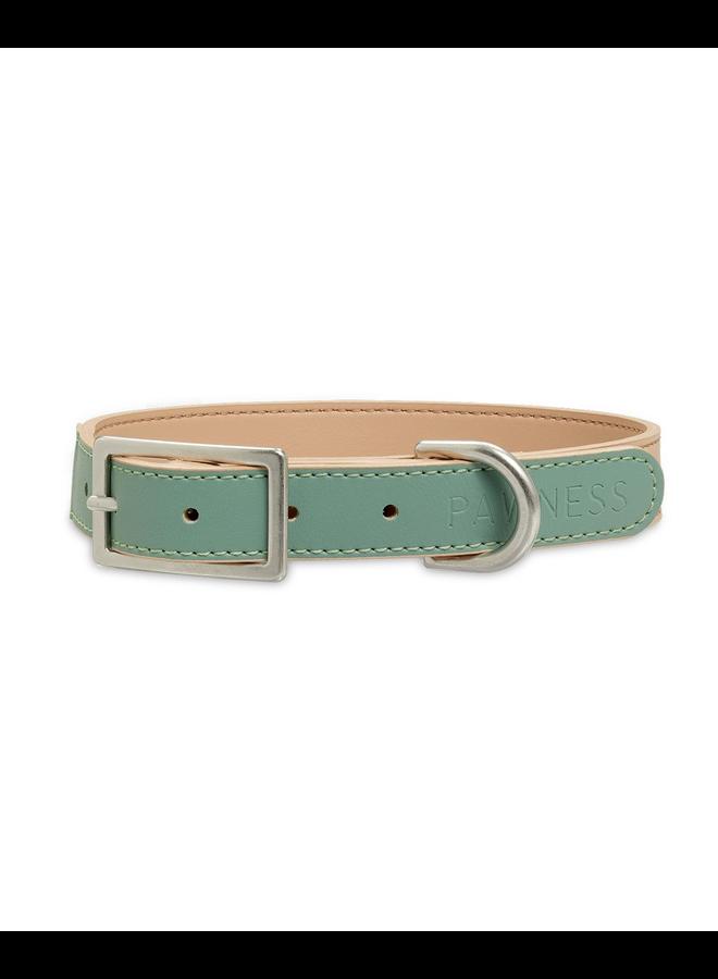 Vegan Leather Collar Bo - Emerald