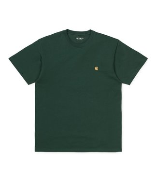 Carhartt WIP S/S Chase T-Shirt Treehouse/Gold