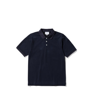Norse Projects Theis Coolmax Pique - Dark Navy