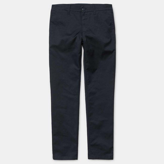 Carhartt WIP Sid Pant - Dark Navy Cotton/T400®/Polyester 'Lamar' Stretch Twill