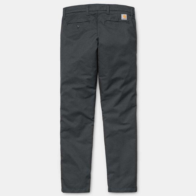 Carhartt WIP Sid Pant - Blacksmith -  Cotton/T400®/Polyester 'Lamar' Stretch Twill