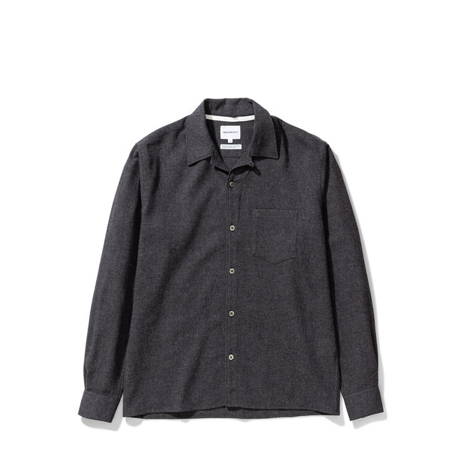 Norse Projects Carsten Light Wool - Charcoal Melange
