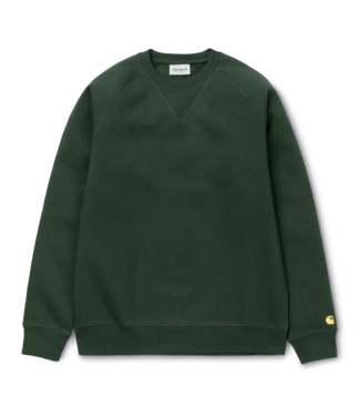 Carhartt WIP Chase Sweat Cotton/Polyester Heavy Sweat - Dark Teal / Gold