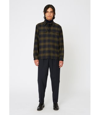 Hope Base Over Shirt - Khaki/Green Check