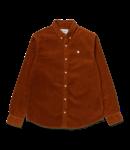 Carhartt WIP Madison Cord Shirt Cotton Corduroy - Brandy / Wax