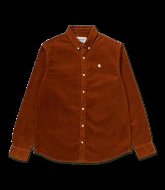 Madison Cord Shirt Cotton Corduroy - Brandy / Wax