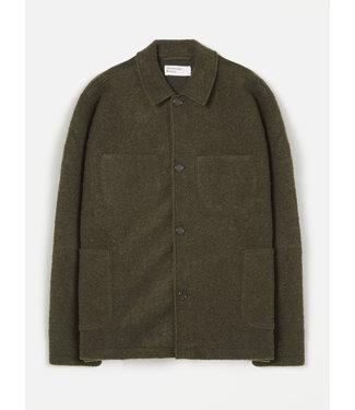 Universal Works Lumber Jacket Wool Fleece - Olive