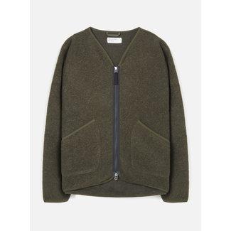 Universal Works Zip Liner Jacket Wool Fleece - Olive