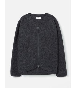 Universal Works Zip Liner Jacket Wool Fleece - Charcoal
