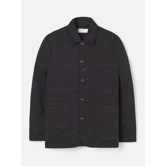 Universal Works Bakers Jacket In Black Twil