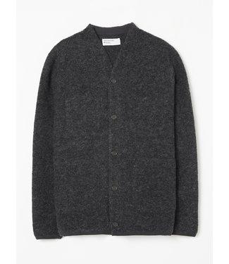Universal Works Cardigan Wool Fleece - Charcoal