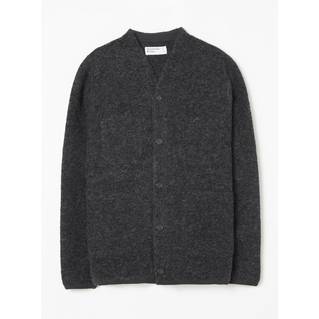Universal Works Cardigan Wool Fleece - Charcoal