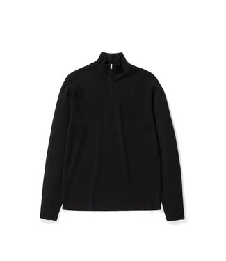 Norse Projects Fjord Half Zip Merino - Black
