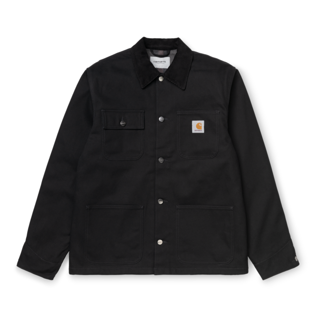 Carhartt WIP Michigan Coat Organic Cotton Dearborn Canvas - Black Rigid