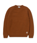 Carhartt WIP Anglistic Sweater Lambswool/Cotton/Acrylic - Brandy Heather