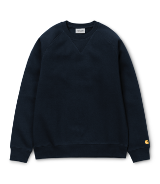 Carhartt WIP Chase Heavy Sweat - Dark Navy / Gold