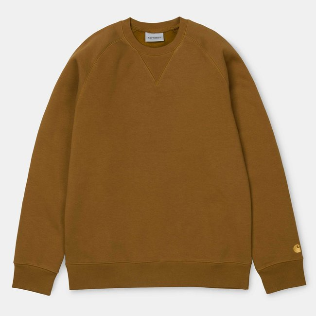 Carhartt WIP Chase Heavy Sweat - Hamilton Brown / Gold