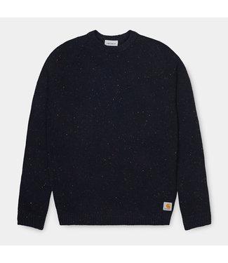 Carhartt WIP Anglistic Sweater - Dark Navy