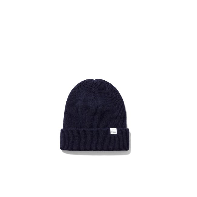Norse Projects Norse Top Beanie - Dark Navy